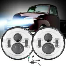 """2x 7"""" inch Round LED Headlights Kit for VW Beetle Classic Land Rover Toyota Jeep"""