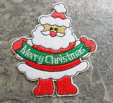 Aufnäher Aufbügler Weihnachtsmann Nikolaus ca 9x8 cm Weihnachten Merry Christmas