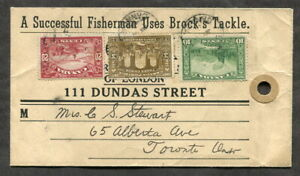 p518 - LONDON 1940 Fishing Store ADVERTISING Cover/Parcel Tag. Brock's Tackle