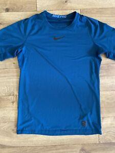 Men's NIKE PRO Dark Teal Shirt Drifit Material Size MEDIUM