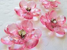 "6 Acrylic Crystal 2"" Big Flower Jewel Brooch/Bead/Rhinestone/DIY Craft K65-Color"