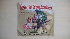 RARE Peter Pan RED Record ALICE IN WONDERLAND 78rpm 1950