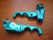 Old School BMX Anodized Blue Two Finger Brake Lever Set Vintage