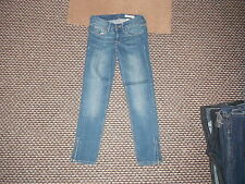 """& and Sqin Ankle Waist 25"""" Leg 25"""" Faded Dark Blue Ladies Jeans"""