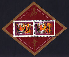 1998 Canada Zodiac Lunar New Year Tiger Souvenir Mini-Sheet Stamp Overprint Mint