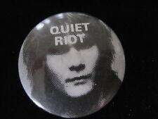 Quiet Riot-Carlos Cavazo-Rock-Pin Badge Button-80's Vintage-Rare