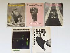 Vintage Scholastic Science World Magazines 5 Issues 1969-1971