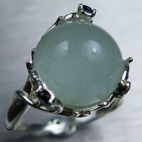 7.2ct Natural Cat's eye Aquamarine 925 silver /9ct 14k 18k Gold Platinum ring