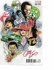 Mighty Avengers #10 DISCO VARIANT NIXON '72 signed Greg Land NM