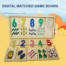 Kids Toys Wooden Number and Colour Matching Puzzle - Educational-Jigsaws