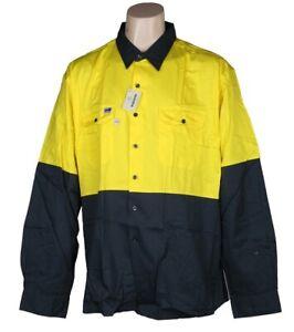 Hi Vis Long Sleeve Work Shirt 3XL Premium Quality Worksense