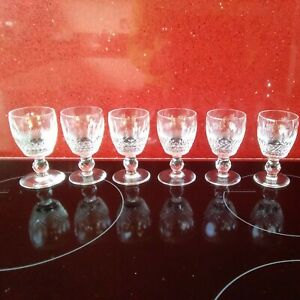 """SET of 6 WATERFORD CRYSTAL COLLEEN 4"""" Sherry, Port, Glasses.Stamped.VGC."""
