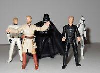Star Wars Loose Action Figures Lot 1996-2008 ~ Luke, Obi Wan, Darth Vader