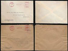 NORWAY METER FRANKINGS 1949 MUSTAD PRINTED ENVELOPES to GB EAST AFRICA GAZETTE