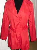 ladies girls La Redoute red rainmac rain mac raincoat coat, NEW Size 10-12 BNWT