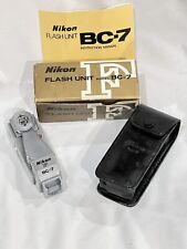 Nikon F Flash Unit Model BC-7 w/ Case, Instruction Manual, in Box