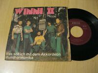 """7"""" Single Winni II Was soll ich mit dem Akkordeon Vinyl Amiga DDR 4 56 200"""