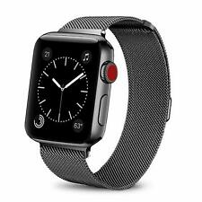 Stainless Steel Mesh Replacement Band For Apple Watch with Magnetic Clasp