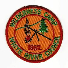 BOY SCOUT   CAMP WILDERNESS  1952   WHITE RIVER COUNCIL      INDIANA