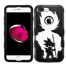 for iPhone 8 Plus Rugged Rubber+Hard Hybrid Case Dragon Ball Z Goku #S