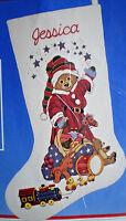 "Dimensions / Michael Hague ""Santa Bear"" Stocking Crewel Embroidery Kit"