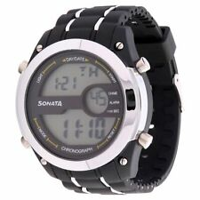 Sonata Superfibre Digital Grey Dial Men's Watch -NL77034PP01