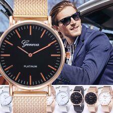 1pcs Fashion Women Men Geneva Crystal Stainless Steel Quartz Analog Wrist Watch