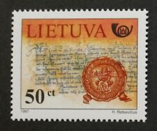 674th anniversary of Letters of invitation stamp, 1997, Lithuania, MNH