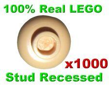 LEGO MINIFIGURE LIGHT FLESH PLAIN HEAD 1000X GENUINE Stud Recessed 3626C RARE