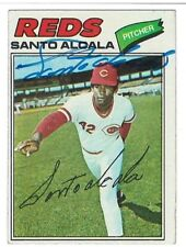 Santo Alcala Signed 1977 Topps Card #636 Autographed Reds / PSA Guarantee