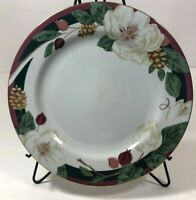 "NEW FAIRFIELD MAGNOLIA Fine China Dinner Plate 10"" Round Flowers  Gold Rimmed"