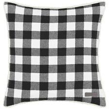 Eddie Bauer Cabin Plaid Black & White Throw Pillow (WP1)