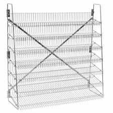 "Wire Candy Snack Rack, 7 Tier, 48"" Wide, Chrome, Free Stand or Mount"
