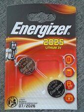 Pile Energizer lithium 3V CR2025 montre calculatrice appareille photo lot 2 pile