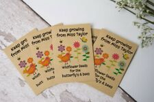 Teacher to Student Pupil End of Term Gift Seed Packets Wildflower Personalised
