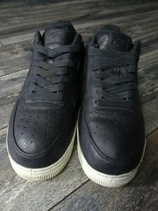 Nike NikeLab Air Force 1 Low PRM Mens 12 Black/White 905618-001 Lab
