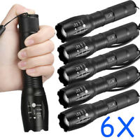 Tactical 18650 Flashlight T6 LED High Powered 5Modes Zoomable Aluminum Torch