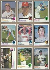 1973 73 Topps YOU PICK SINGLES FROM #1-660 ALL HIGH GRADE NEAR MINT OR BETTER