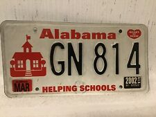 Early Heart Of Dixie Alabama Helping Schools License Plate Free Shipping