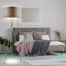 LUXE Lampadaire chambre à coucher éclairage lecture argent textil-lampenschirm