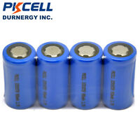 6xICR 18350 Rechargeable Battery 3.7V 900mAh Li-ion Flat Top For flashlight