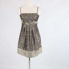 Taupe shimmery tapestry BCBG MAX AZRIA spaghetti strap A-line dress 2