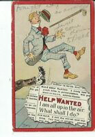CI-442 Help Wanted, Up in the Air, Artist Signed by Dwig Divided Back Postcard