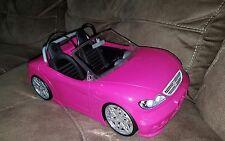 2013 Barbie Ken Doll Pink Convertible Beach Cruiser Sports Car Mattel Bdf38