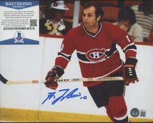 Guy Lafleur Montreal Canadiens Signed 8x10 Photo AUTO Autograph Beckett BAS COA