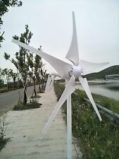400W DC24V Wind Turbine Generator With Waterproof Charge Controller 5 Blades