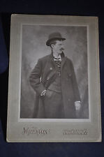 Ca 190 Cool Debonair Mustache Man Photo, Wheaton Studio, Schenectady NY