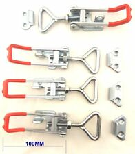 4Pcs LARGE OVER CENTRE LATCH 100MM Toggle Latch Trailer Fastener UTE 4WD