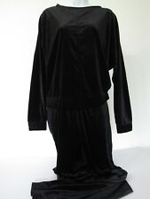 CUPIO Black STRETCHY Velour 2pc Outfit Casual Lounge Top & Pants size S new