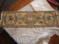 Vintage loom,loomed tapestry,runner, textile,linen colorful! old estate!